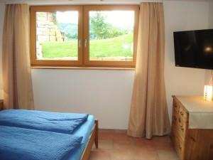 Wohn-/Schlafzimmer mit Bergblick