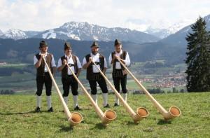 Alphornbläser *Touristinformation Wertach*